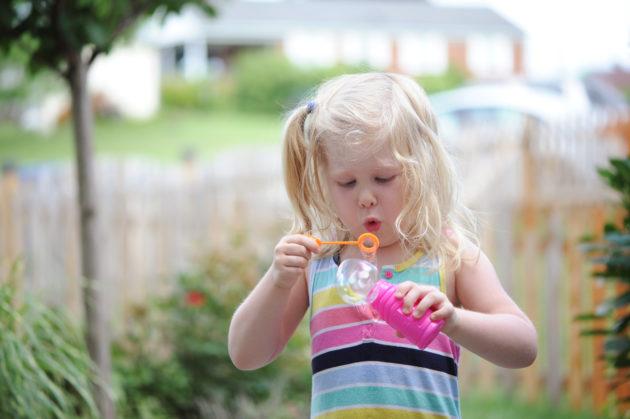 fun spring photo bubble