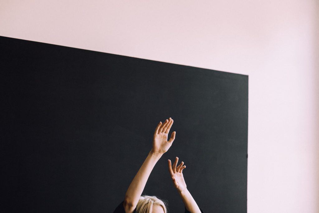 raising your hand for a mom owned  business